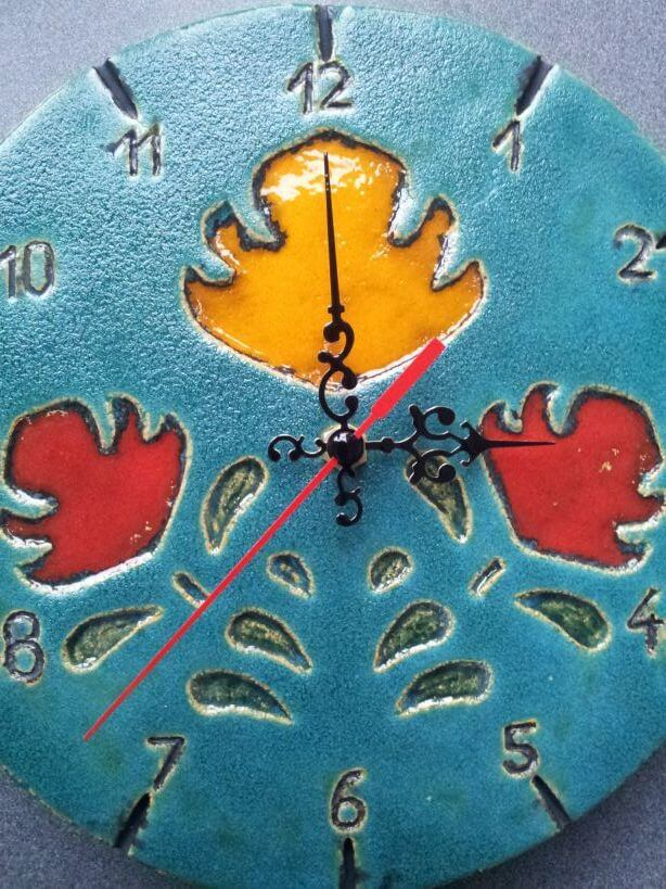 niebieski zegar folkowy