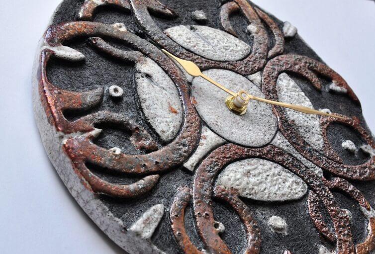 zegar ceramiczny rękodzieło