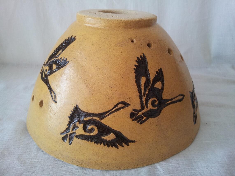 lampa z ptaszkami