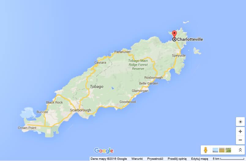 wioska Charlotteville na Tobago