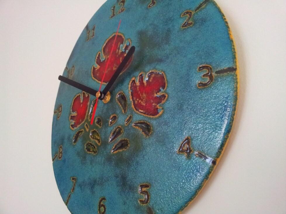 turkusowy zegar folkowy