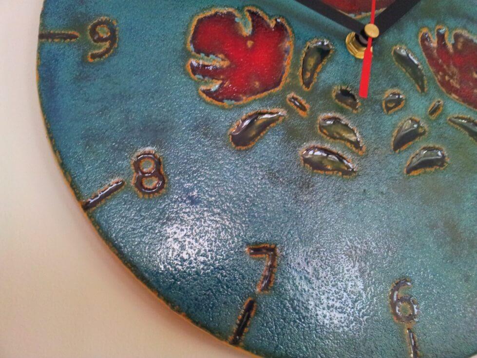 zegar wykonany ręcznie