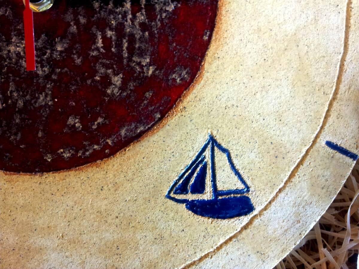 łódka na zegarze