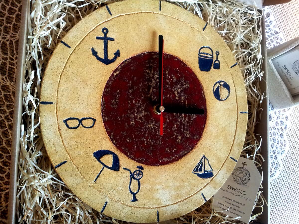 letni zegar rękodzieło