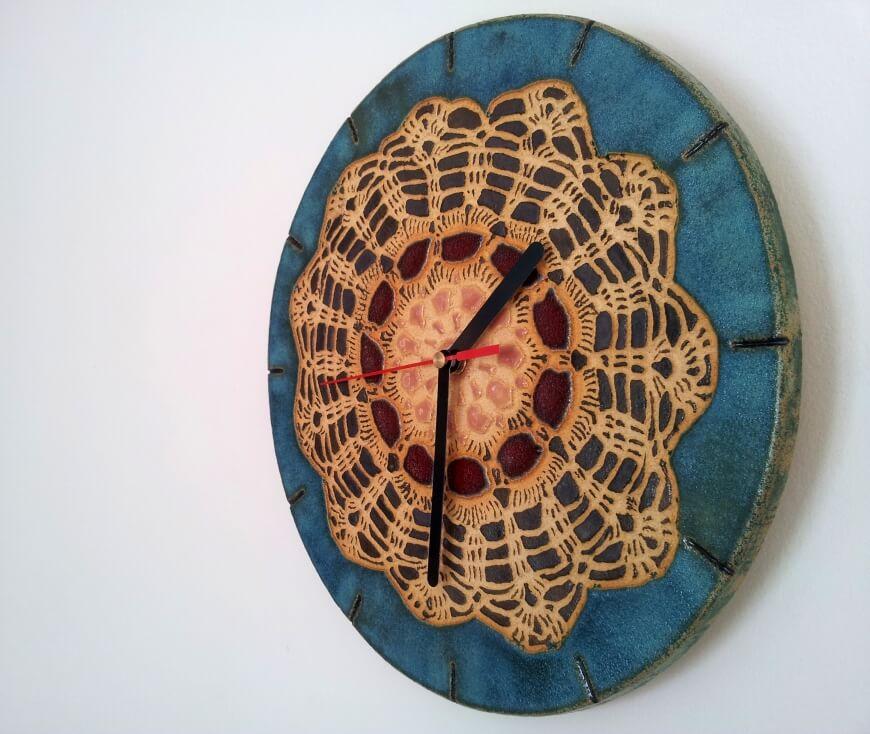 unikatowy zegar folkowy