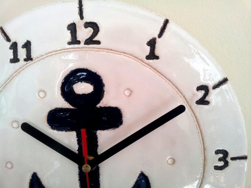 zegar kotwica biały