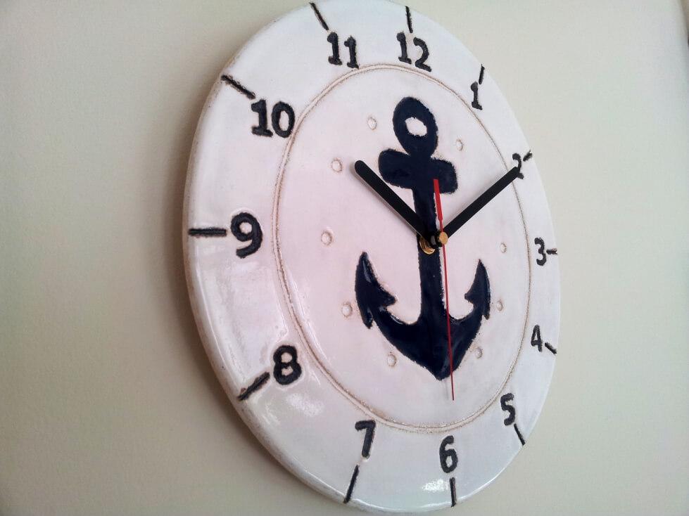 zegar marynistyczny rękodzieło