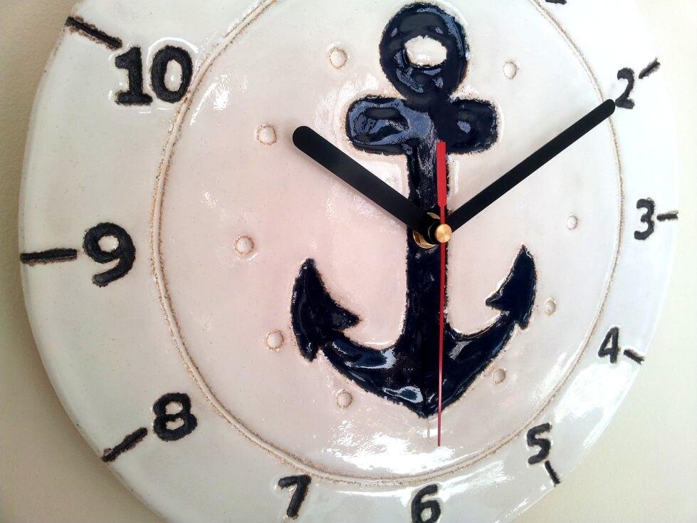 zegar marynarski bialy
