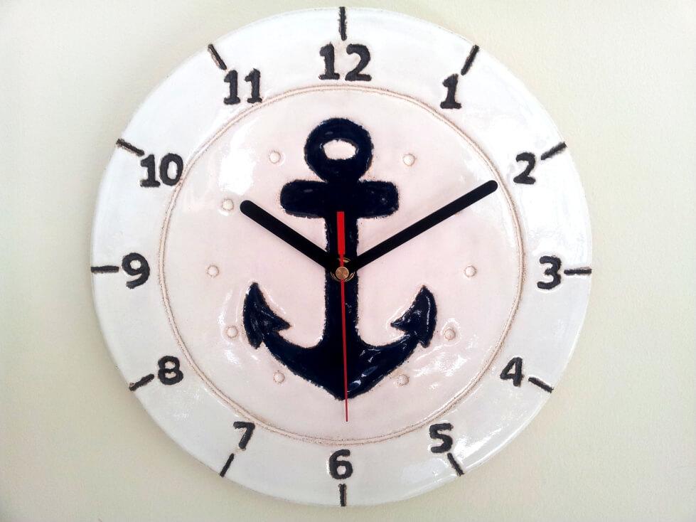 zegar łódka żeglarskie klimaty