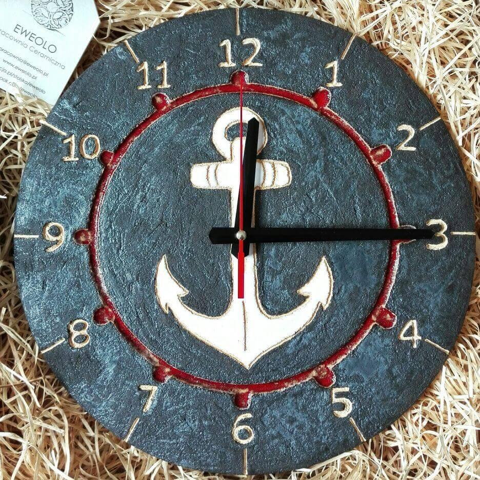 czarny męski zegar marynarski
