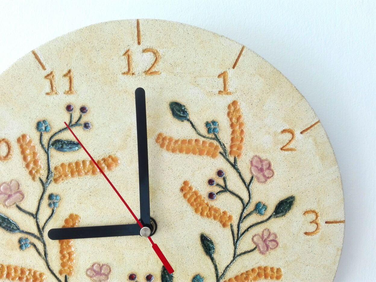 zegar ścienny kwiaty