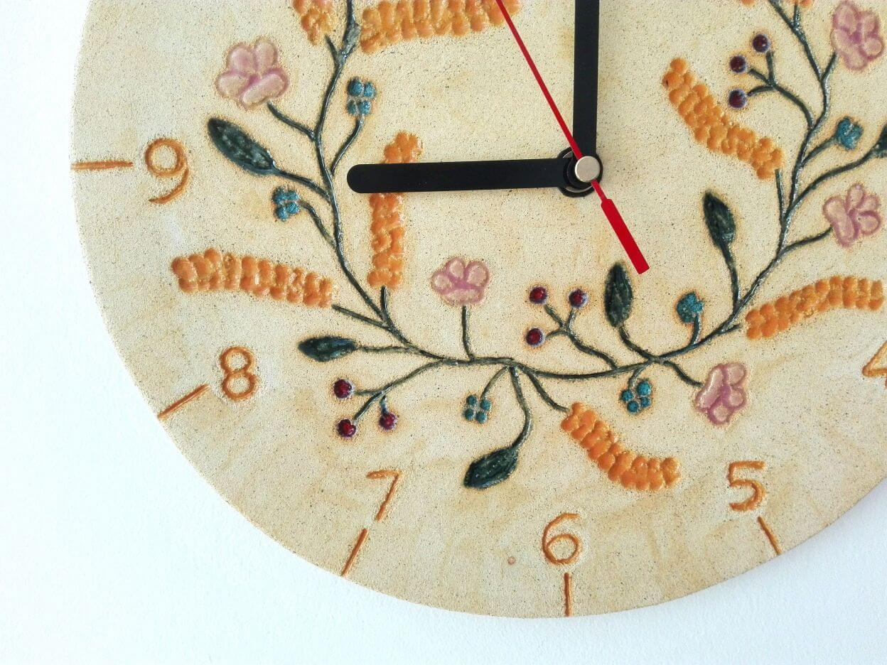zegar lipcowy wianek