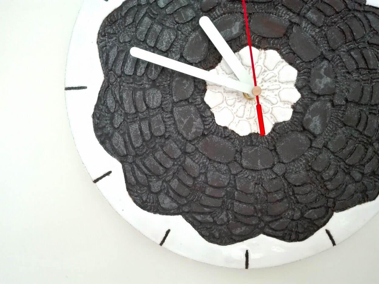 zegar ścienny czerń i biel