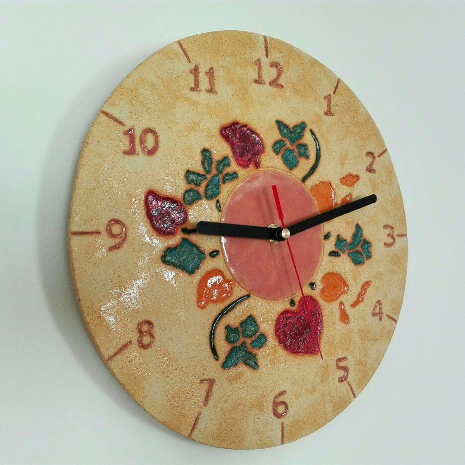 zegar kwiaty prezent dla rodziców