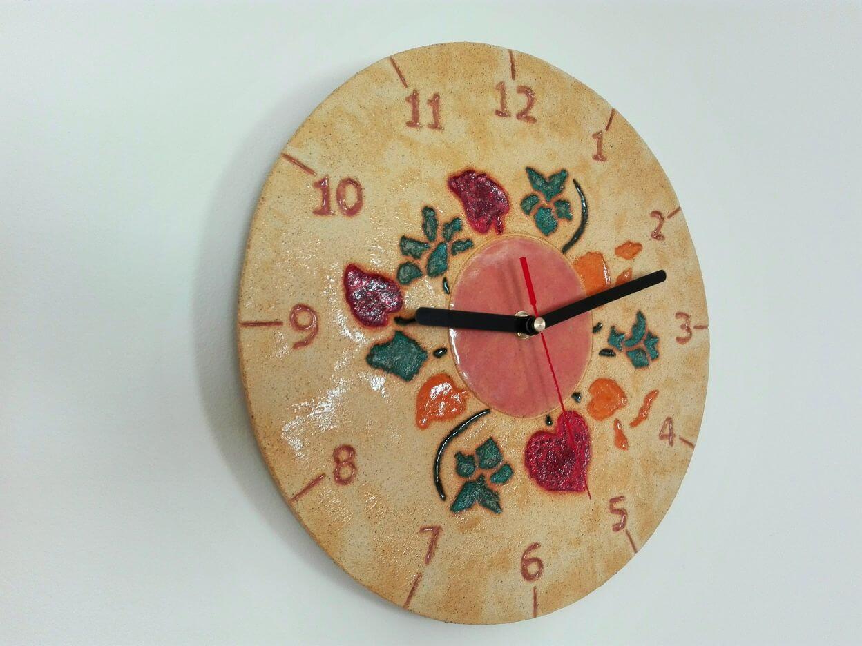 zegar kwiaty prezent ślubny