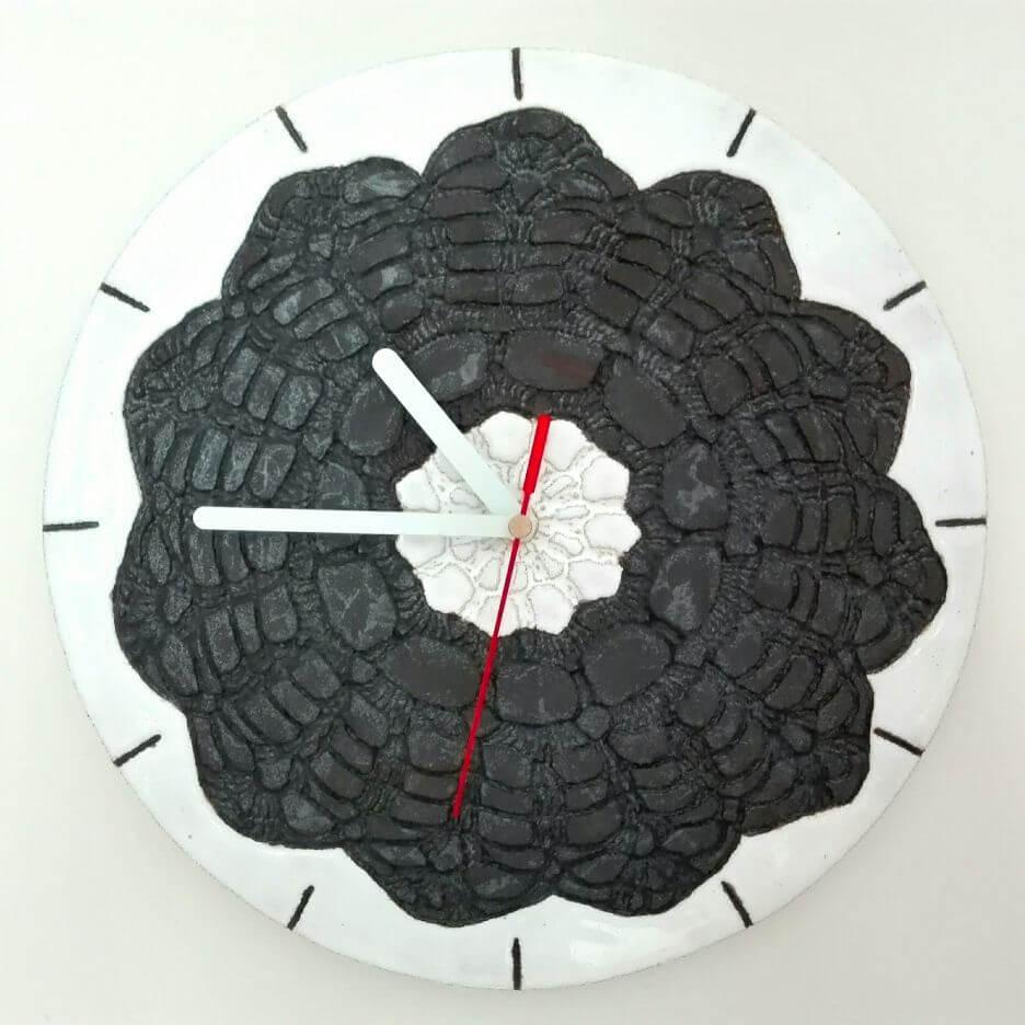 zegar ścienny czarno biały