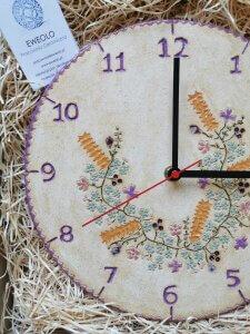 Eweolo rękodzieło wiejski styl zegar