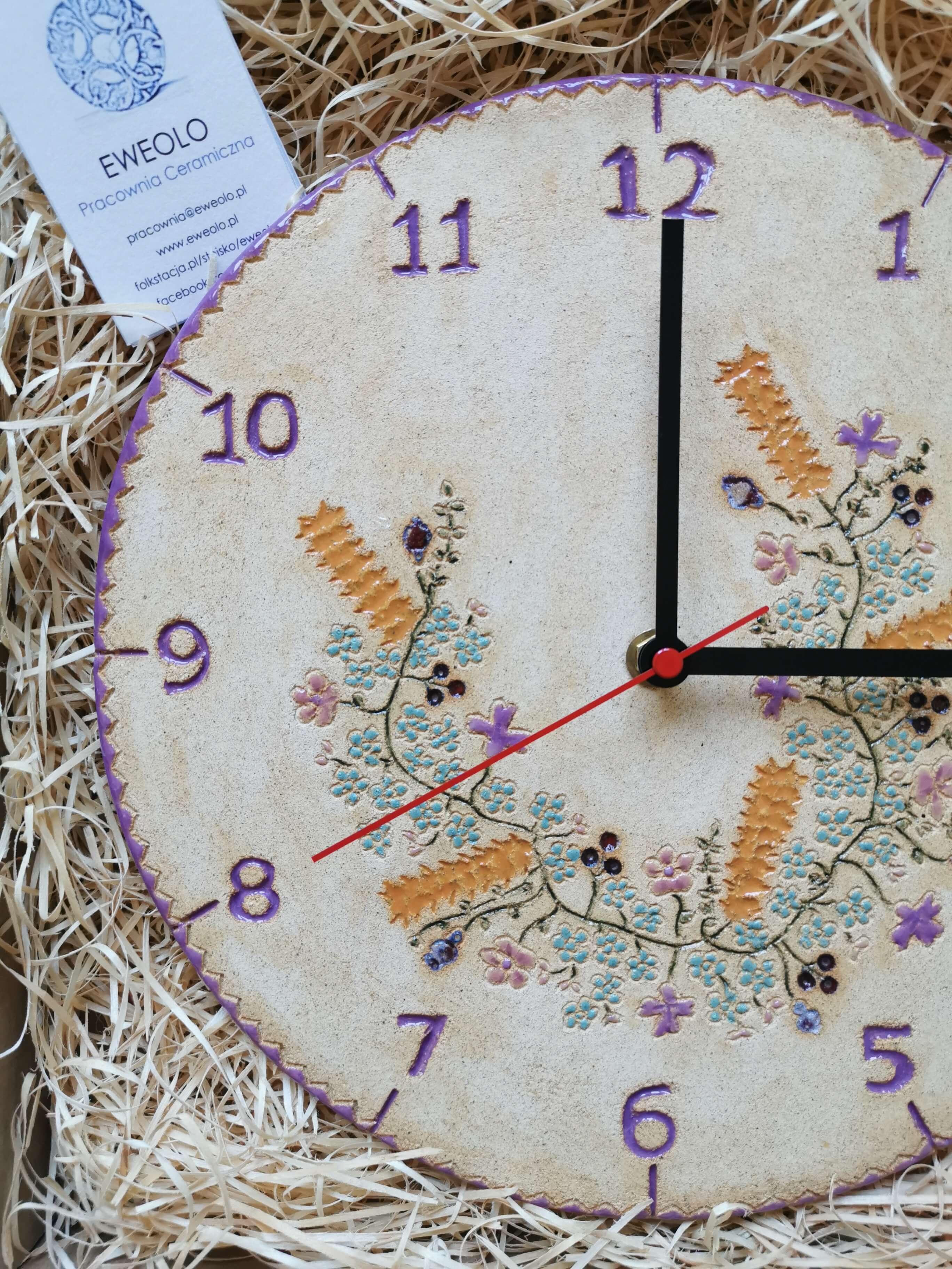 eweolo-zegar-polne-kwiaty-fioletowy-ceramika