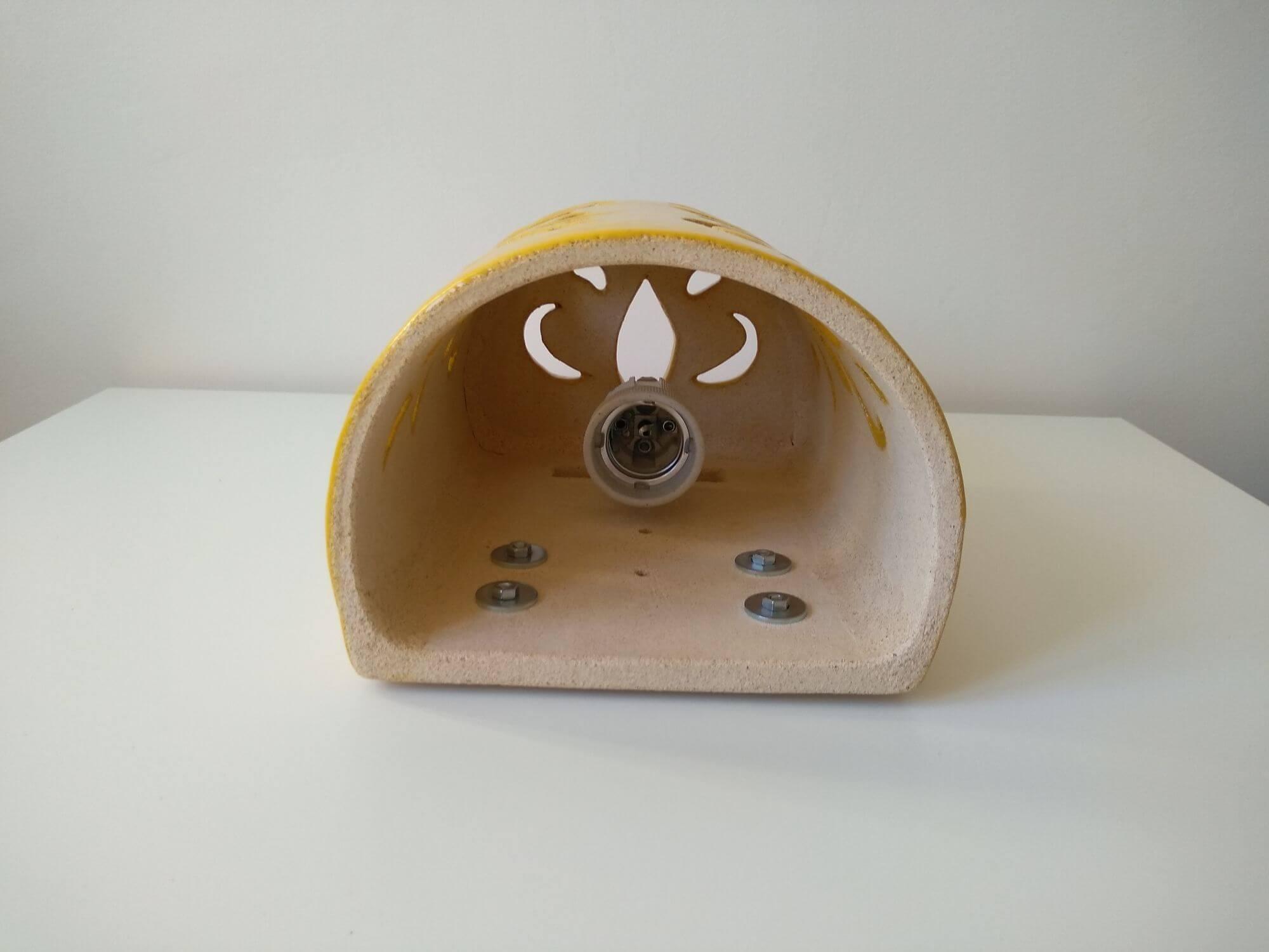 zolty-kinkiet-ceramiczny-zarowka