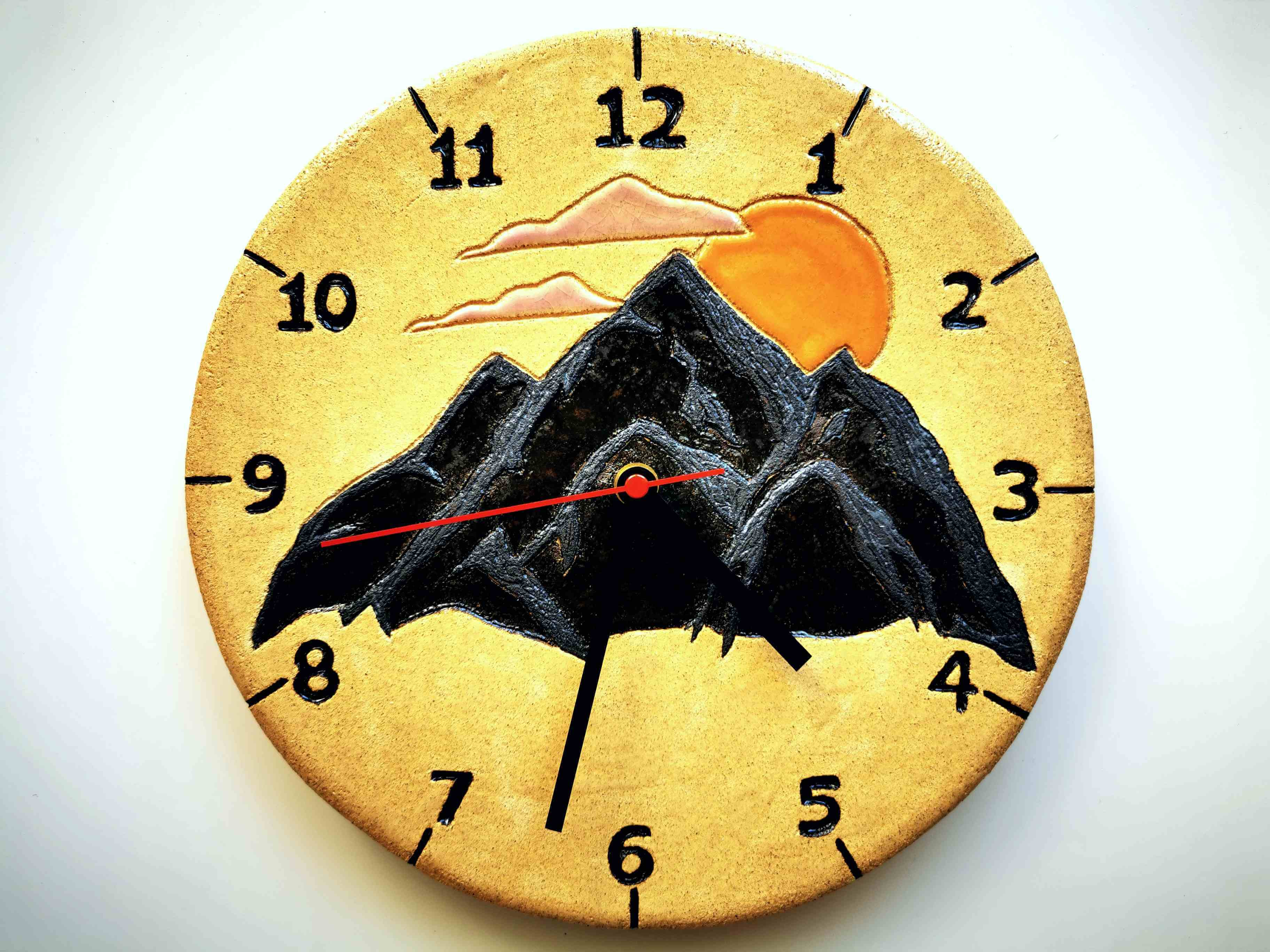 zegar góry słońce chmury