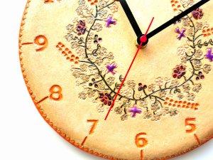 zegar kłosy zbóż kwiaty polne