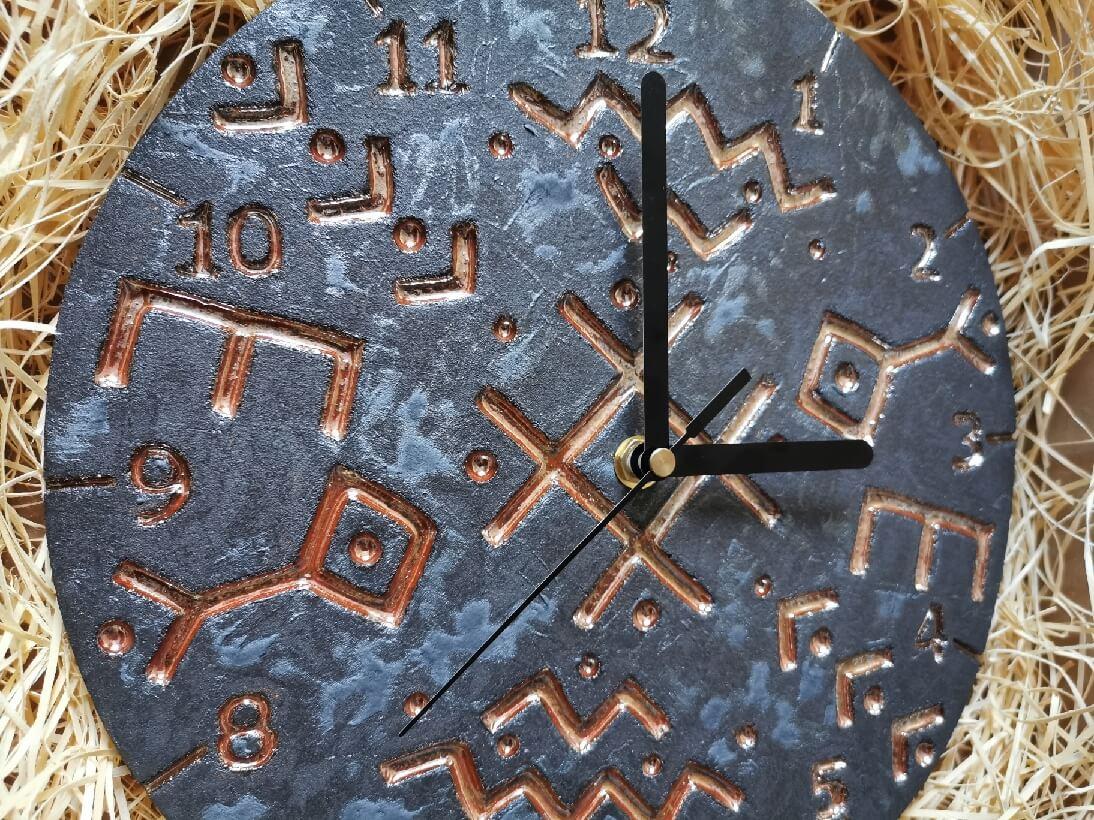 Zegar czarny nordycki