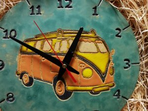 Zegar rękodzieło camper