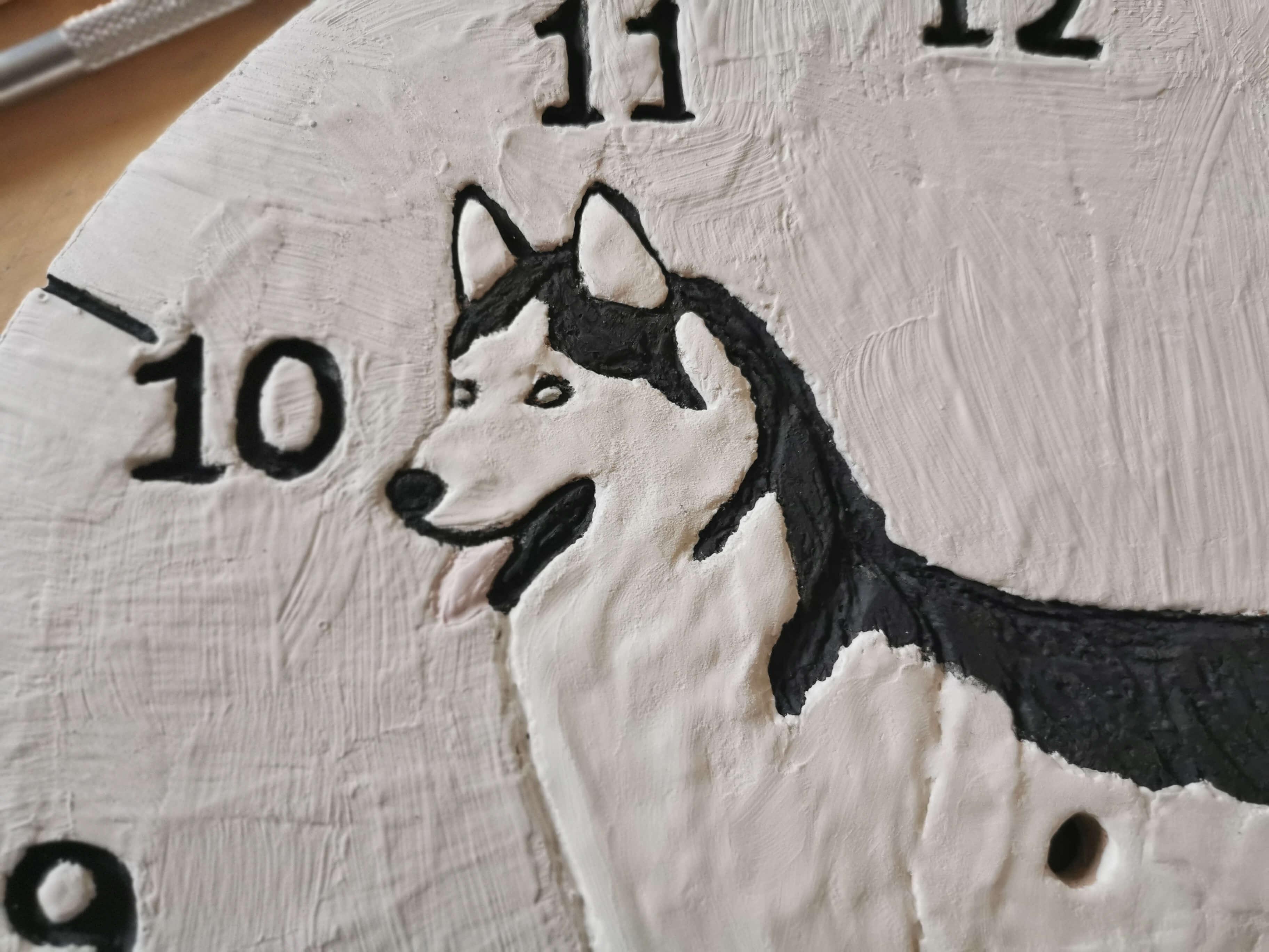 eweolo twarz psa na zegarze
