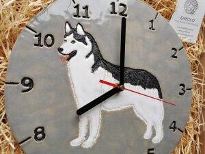 eweolo pies husky zegar