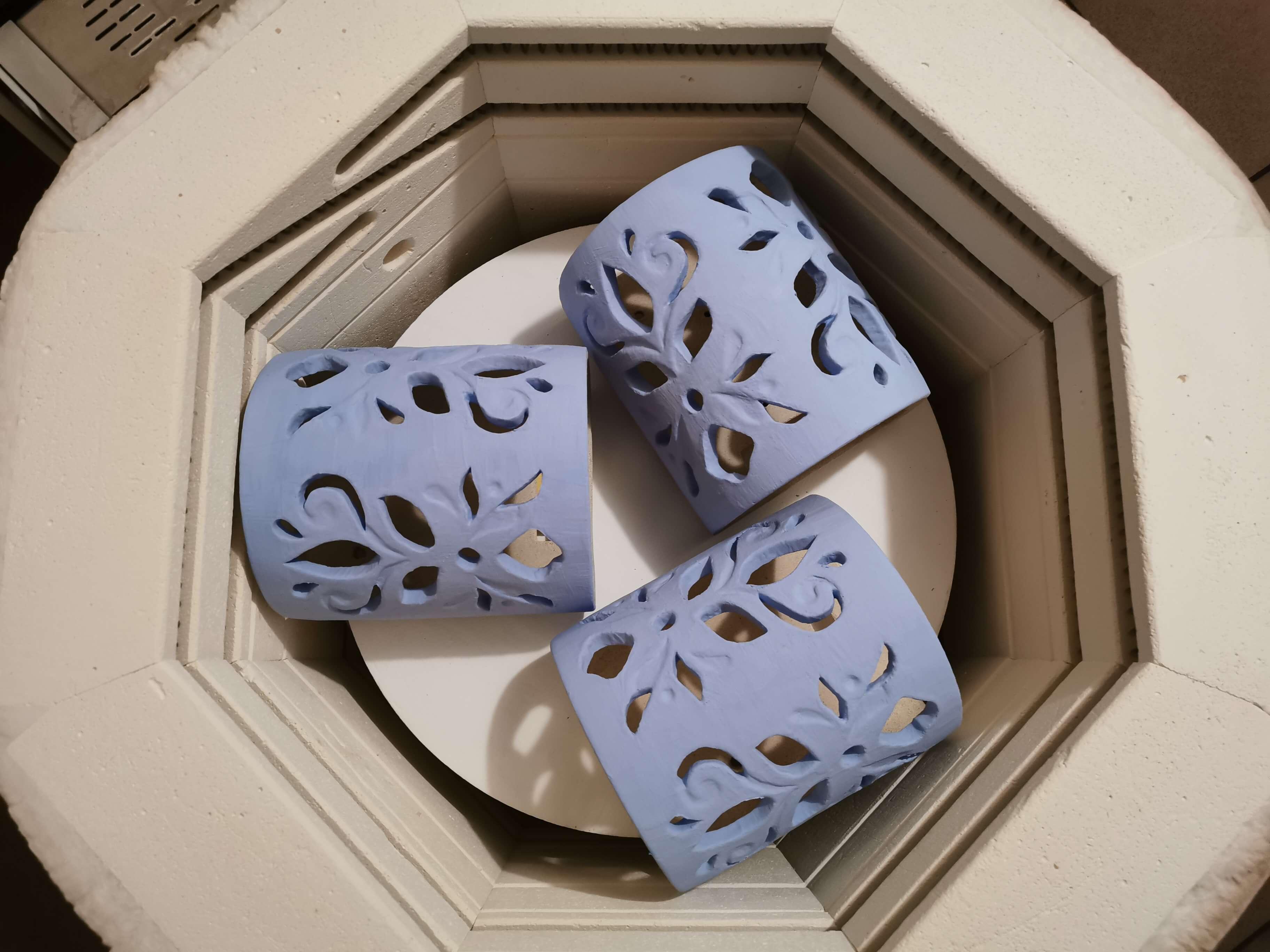 eweolo Pracownia kinkiet szkliwo niebieski