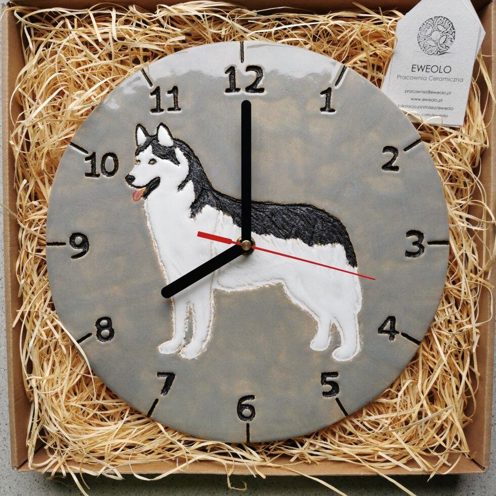 Zegar pies husky