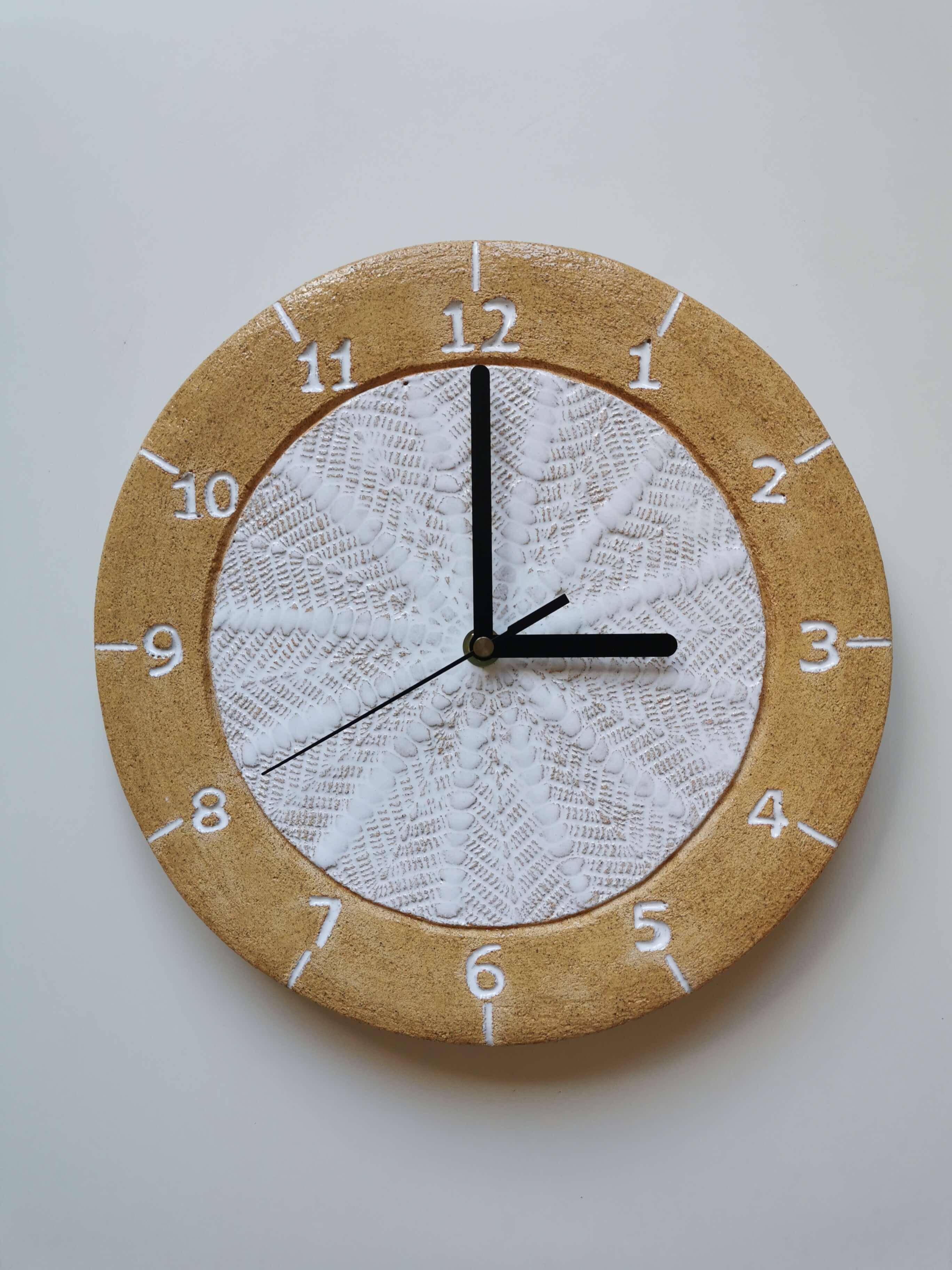 Zegar w stylu boho