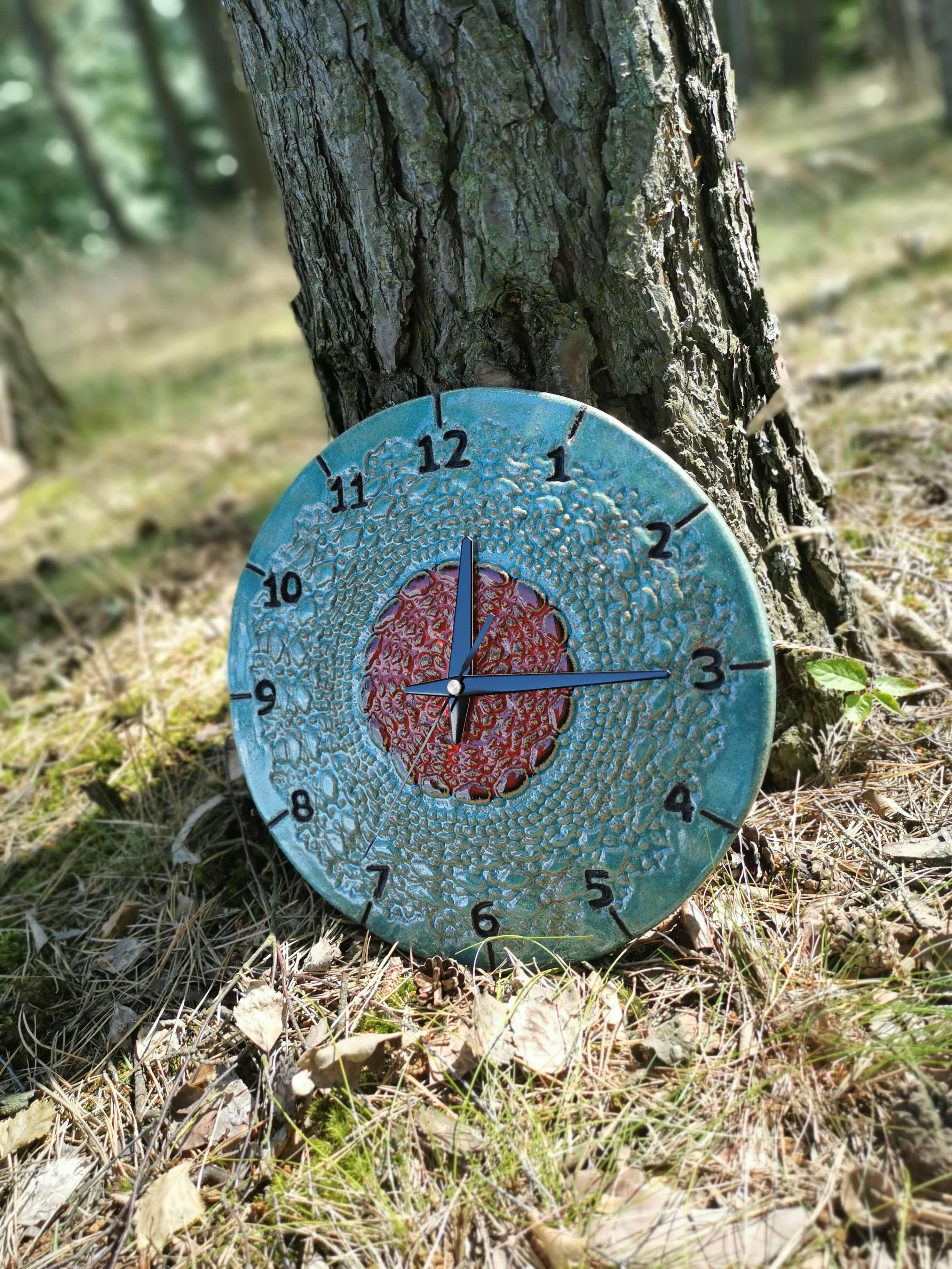 Eweolo niebieski zegar ścienny rękodzieło