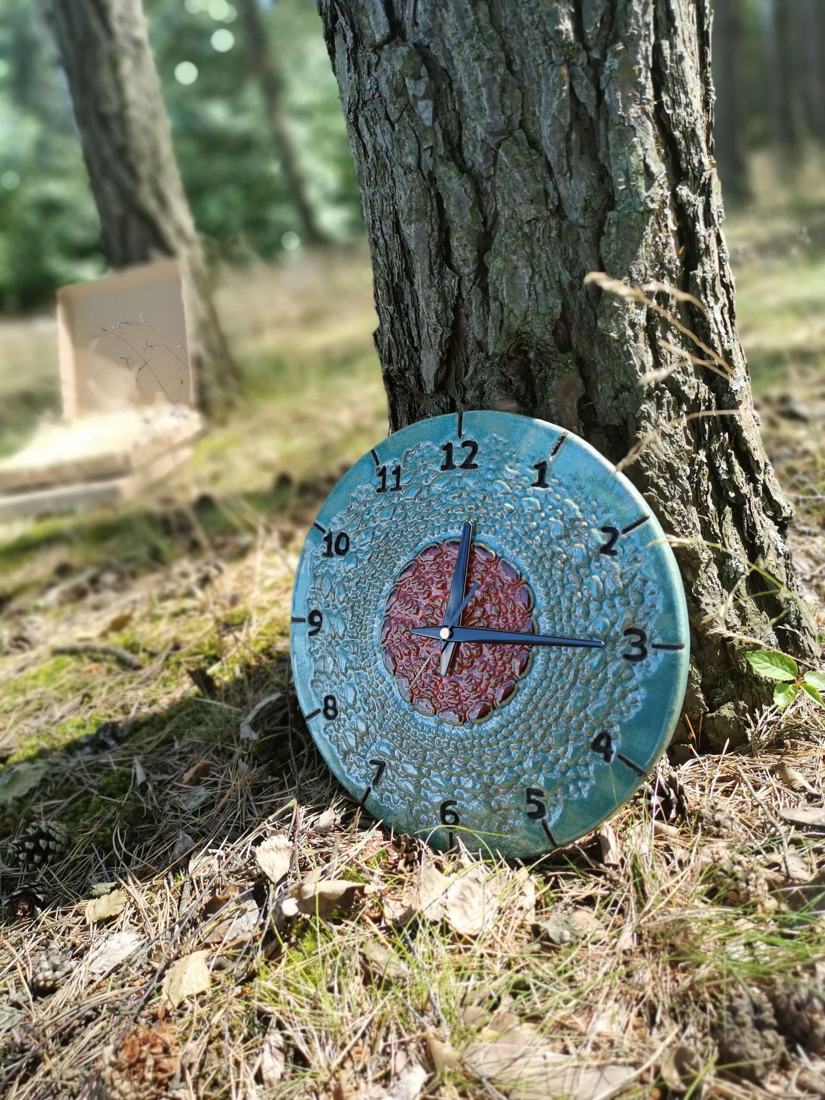 niebieski-zegar-scienny-eweolo-unikatowy